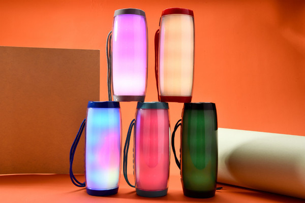 TG157 Led Lamp Speaker Colorful Wireless Bluetooth 1200mah Double Speakers V4.2 Support FM USB TF 40pcs/lot