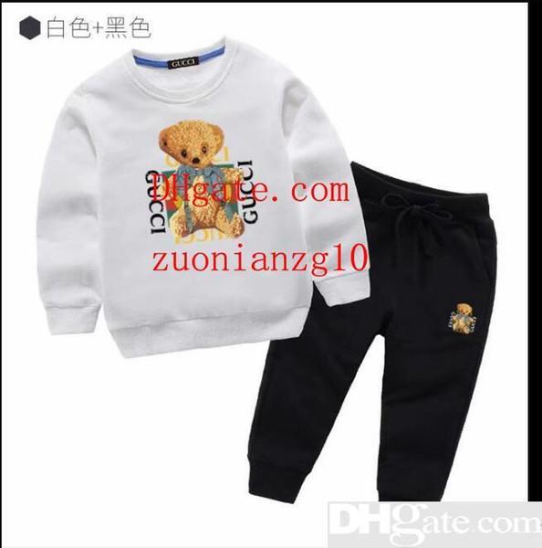 2019 Hot bebê meninos roupas criança carta top dinossauro impresso calças 2 pcs set 2019 boutique de moda verão crianças Conjuntos de Roupas C5932