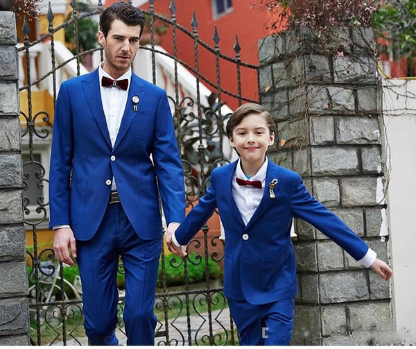 New Style Pico Lapela Dois Botões de Casamento Do Noivo Smoking Do Casamento Do Céu Azul Smoking Smoking Ternos Dos Homens Melhor Homem Blazer (Jaqueta + Calça)