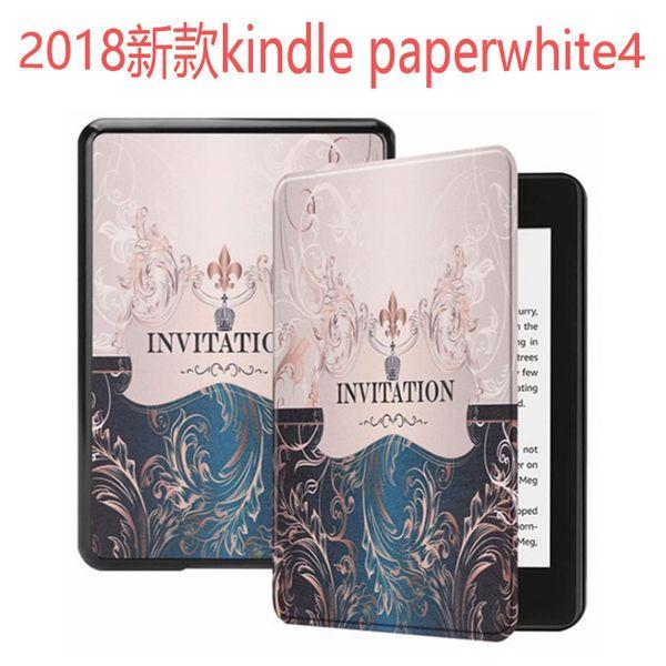 Slim Faux Leather Folio Flip Case Protective Shell Skin Cover Auto Sleep/Wake For Amazon Kindle Paperwhite 4 kpw4 1/2/3 6 Inch C26