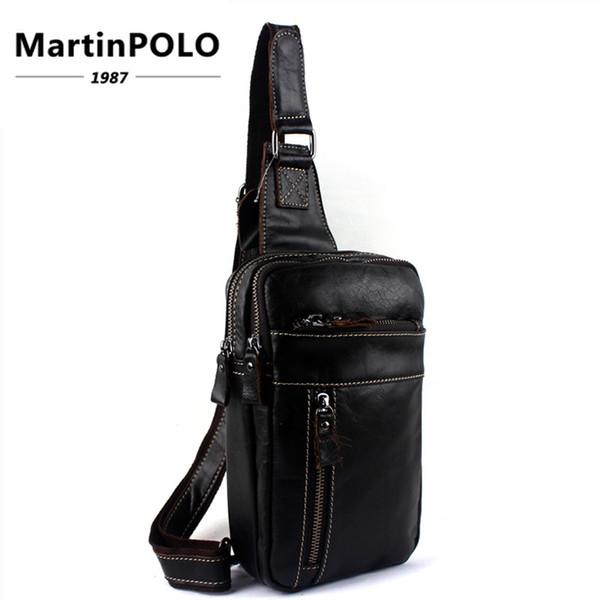 2019 Genuine Leather Men Bag male chest bag travel shoulder Man Crossbody Bags Messenger Bags Men Phone Sling Chest Pack 8014
