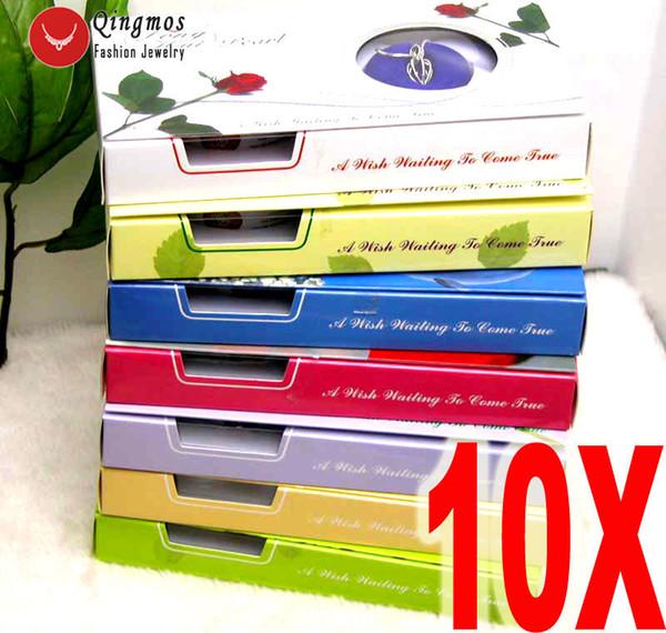 Qingmos Wholesale 10 Cajas Wish Pearl Heart Cage Holder Gargantillas Collar Para Las Mujeres Oyster Love Pearl Colgante Collar Regalo Set J190713