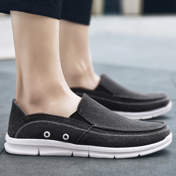 Fashion Casual Canvas Shoes Man 2019 Summer Breathable Light Male Shoes Adult New Hot Sale Loafers Espadrilles For Men
