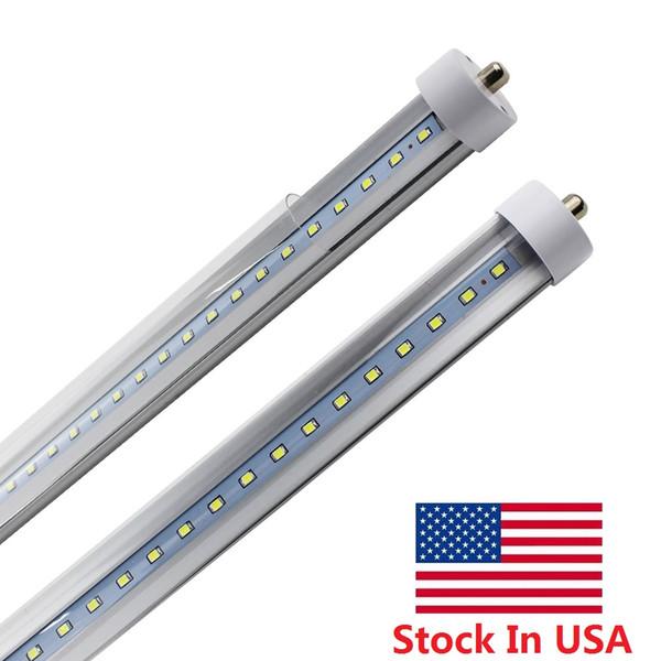 LED-Röhren T8 8ft LED 6000K Einzelstift FA8 45W LED-Röhrenleuchte 8 ft 8feet 100LM W Leuchtstofflampen-Vorrat In US