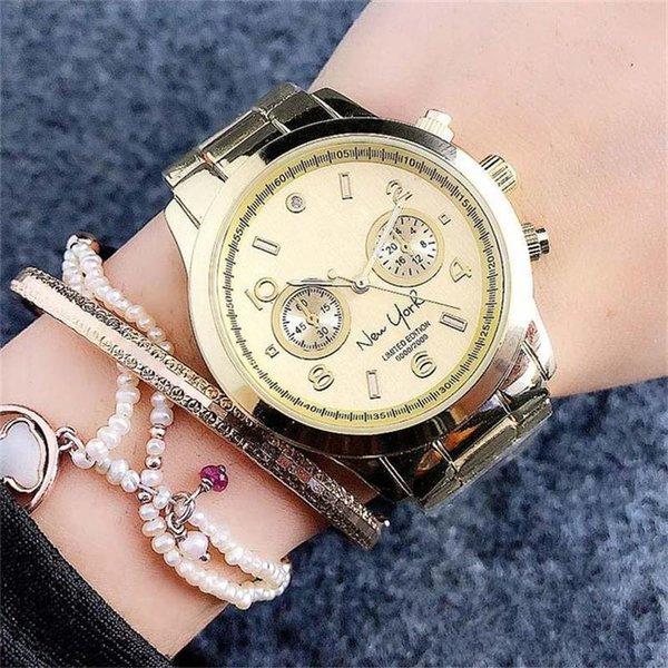 Quarz-Uhr-Qualitäts-Art- und Weisestahlgürtel Quarz-Uhren der klassischen einfachen Gedenkausgabedesign-Art-Frauen der Männer Freies Verschiffen