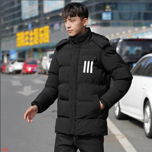 2019Ad1das Новый стиль Зимняя куртка Мужчины Повседневная Slide Спортивная F Мужской Стенд Воротник пальто проложенный сгущаться Parkas
