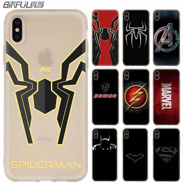 luxury marvel comics logo cases silicone soft cover for iphone xi r 2019 x xs max xr 6 6s 7 8 plus 5 4s se