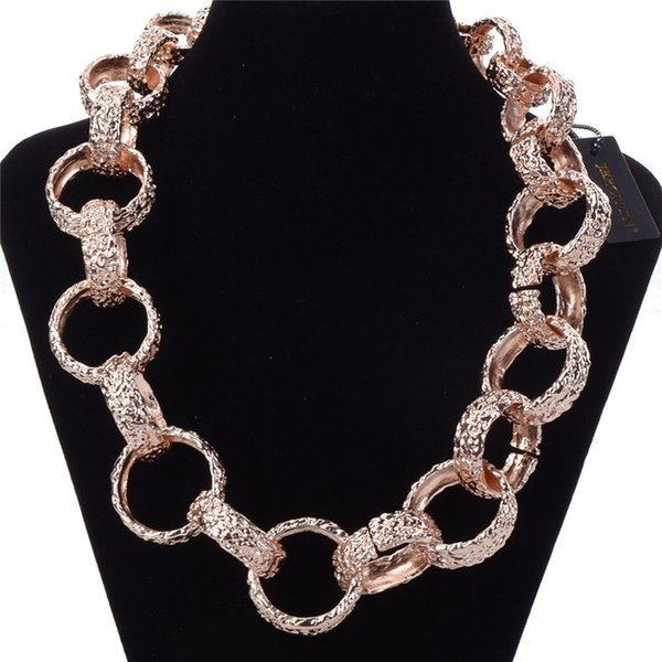 JEROLLI Fashion Metal Chain Choker Necklaces For Women New Design Alloy Maxi Bib Statement Collar Necklaces Jewelry
