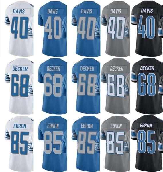 official photos b50ca c7a14 2019 2019 Custom Detroit Men Women Youth Lion Jersey #85 Eric Ebron 40  Jarrad Davis 68 Taylor Decker Home Jerseys From Ccr06, $16.5 | DHgate.Com