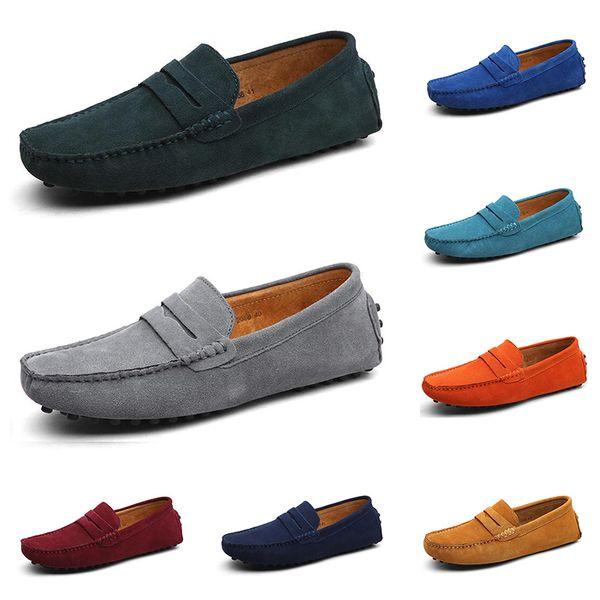 2020 sıcak yeni erkekler rahat ayakkabılar üçlü siyah beyaz kahverengi şarap kırmızı lacivert haki mens espadrilles renk # 7 yürüyen açık koşu sneakers
