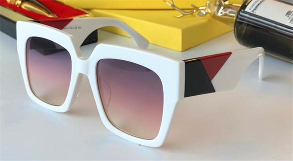 Diseñador de moda mujer gafas de sol 0263 marco cuadrado simple popular estilo de venta de calidad superior uv400 gafas de protección con caja original