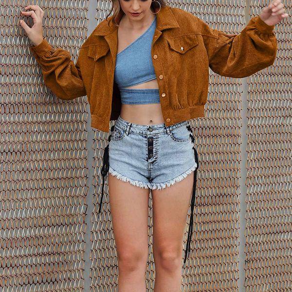 JAYCOSIN Women Retro Jacket 2019 Tops Girl Casual baseball Women Clothing Button Thin Bomber Long Sleeves Coat Jackets Outwear