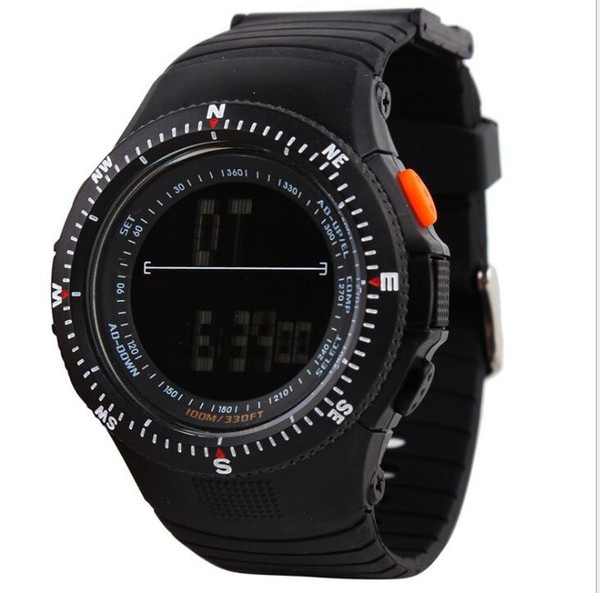 Men's 50 meters life waterproof sports watch student table outdoor hiking camping multi-function electronic watch free shipping