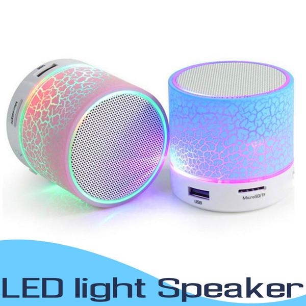 LED Portátil A9 Mini Alto-falantes Bluetooth Sem Fio Mãos Livres Speaker Portátil MP3 Player de Música de Áudio Suporte Cartão SD Subwoofer Altifalantes