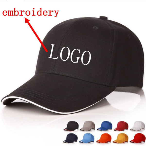 WZCX Fashion 2019 Custom Logo DIY Embroidery Letter Baseball Cap Solid Color Casual Unisex Adjustable Hip Hop Cap Adult