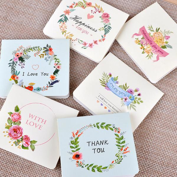 Compre Invitación De Promoción Tarjetas De Felicitación Tarjetas De Boda Estilo Europeo Romatic Impresión De La Flor Diy De Navidad Tarjetas De Las