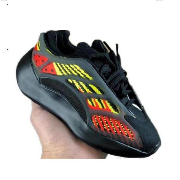 Children Boys Girls Azael 700 V3 Static Reflective Kids Mesh Breathable Running Shoes Kanye West 700 V2 Kids Buffer Rubber Jogger Shoes