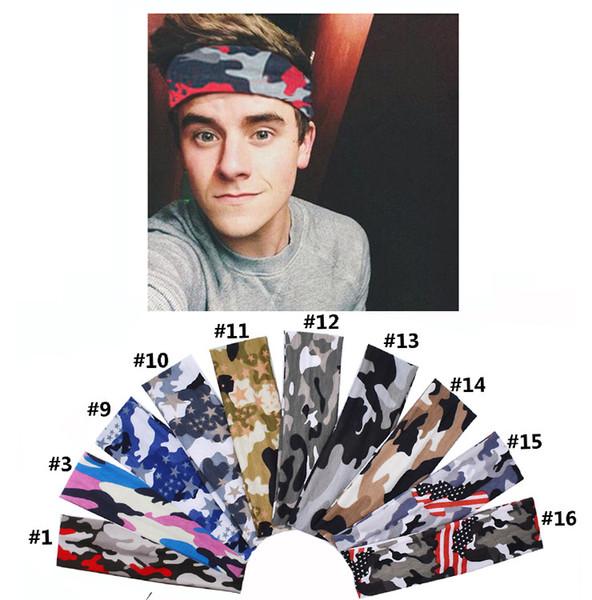 Camuflagem de luxo Esportes Headbands Homens de algodão elástico hairband designer Absorver o suor cabeça lenço faixa de cabeça yoga Para mulheres acessórios de Jóias