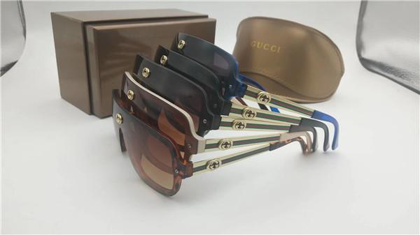 Gafas de sol de verano para hombres y mujeres de moda nuevo estilo verde rojo verde marco grande pieza unida gafas de ocio puede ser al por mayor