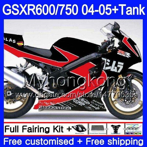Suzuki Gsxr 750 >> Body Black Red Hot Tank For Suzuki Gsxr 750 Gsx R750 K4 Gsxr 600 Gsx R600 04 05 295hm 3 Gsxr 750 Gsxr600 04 05 Gsxr750 2004 2005 Fairings Fairing