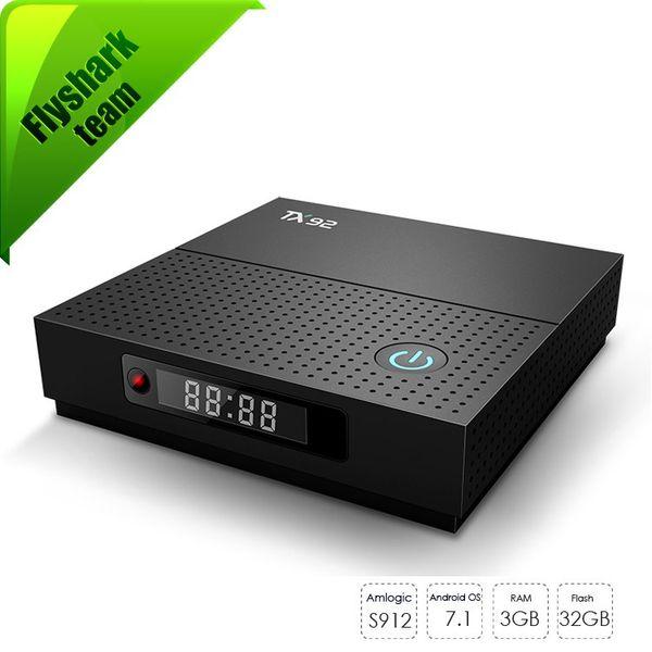 Android 7.1 TV Box TX92 Smart-TV 3 GB 32 GB Amlogic S912 Streaming-TV-Box Dual-WIFI Mit Bluetooth mxq pro Media Player