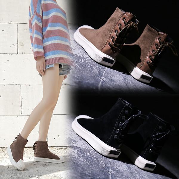 Winter Schnee Stiefel Frauen Wildleder Stiefel Warme Fell Plüsch Innensohle Knöchel Frauen Schuhe Heiße Flache Damen Mujer