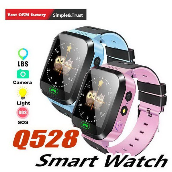 Q528 GPS Children Smart Watch Anti-Lost Flashlight Baby Smart Wristwatch SOS Call Location Device Tracker Kid Safe vs Q750 Q100 DZ09 U8