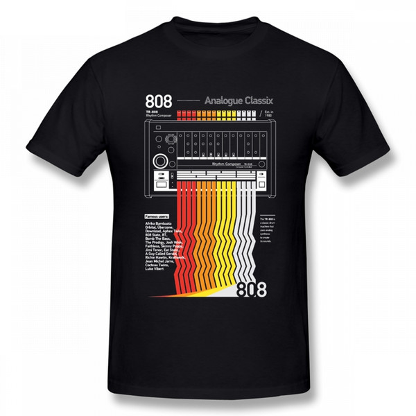 Mode 808 Classix Acid Techno T-Shirt Freizeit Kleidung Oansatz Baumwolle Plus Size Kurzarm T-Shirts