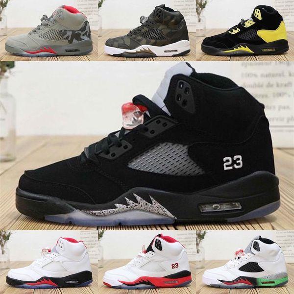 Nike Air Jordan 5 Jumpman 5s tênis de basquete retro mens para venda Branco Preto Roxo Uva Bel Sup Camo Vermelho Barato aj5 air flights tênis tênis J5