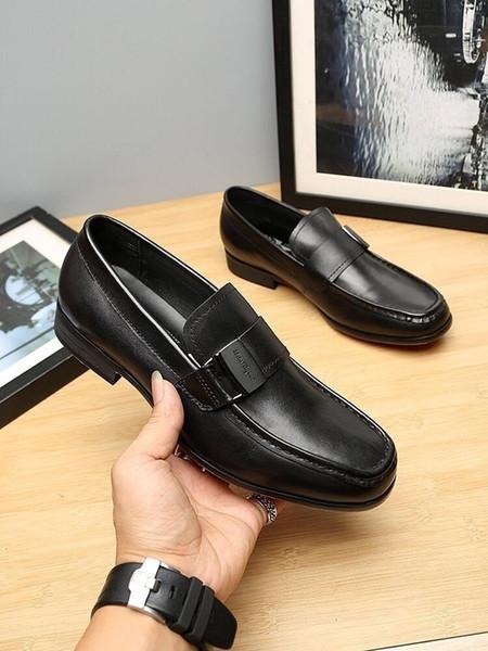 Pelle pattino di vestito uomo più US piani degli uomini di affari Oxfords Casual Nero Marrone