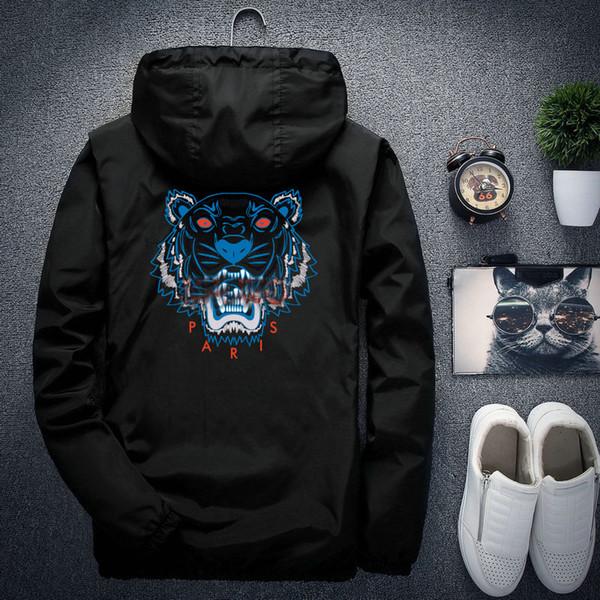 Venta al por mayor 22 del color Hombres Mujeres Deportes rompevientos chaqueta chaquetas tigre cabeza masculina marcas Cremalleras Hasta capucha abrigos Luxuryed envío libre Sellin