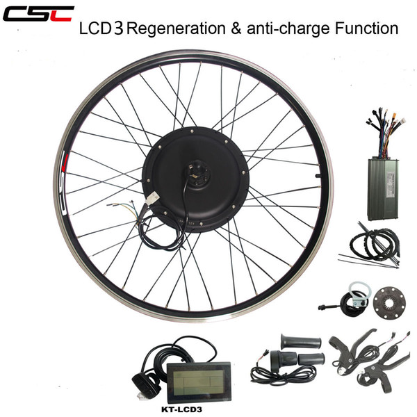CSC eBIKE 48V 1000W Electric Bicycle Conversion Kit 20 24 26 27.5 28 29 inch 700C Front Rear Bike Wheel Hub Motor kit with LCD display