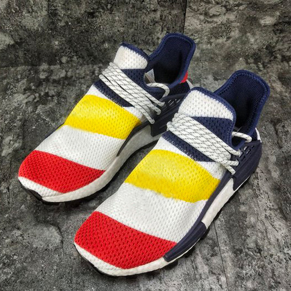 more photos 0d5f0 012b8 2019 BBC X Pharrell X NMD Human Race Trail Men Designer Sports Sneakers  Shoe Women Casual Trainers Shoe With Box 36 45 From Pickyoursneaker, $97.47  | ...