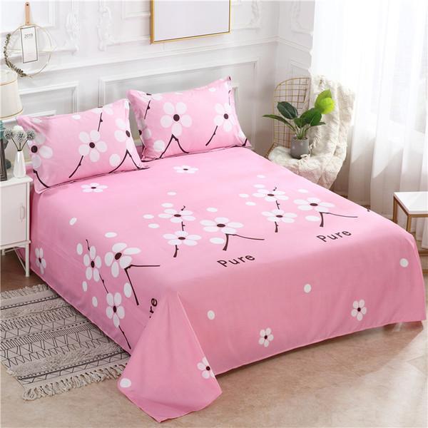 Bed Set Bed Sheet +2 Pc Pillowcase Bed Linen Mattress Covers Fitted Sheet Flat Sheet Bedsheet Queen King Full Twin Size
