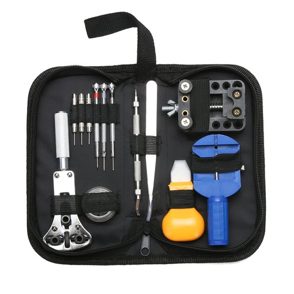 Multifunction Watch Repair Tool Kit 13pcs Clock Watch Tools Watch Case Opener Link Pins Remover Watchmaker Tools