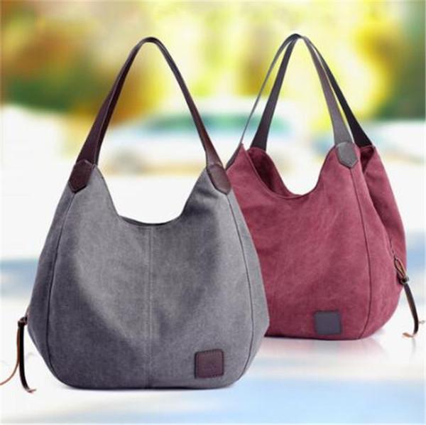 Bolso de hombro casual de moda Bolsos de lona para mujer Hobos femeninos de alta calidad Bolsos de hombro individuales Bolso de diseñador de mano grande para mujer
