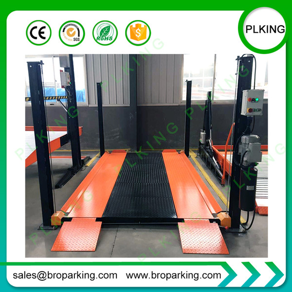 2019 PLKING Manual Release Hydraulic 4 Post Auto Parking Car Lift From on