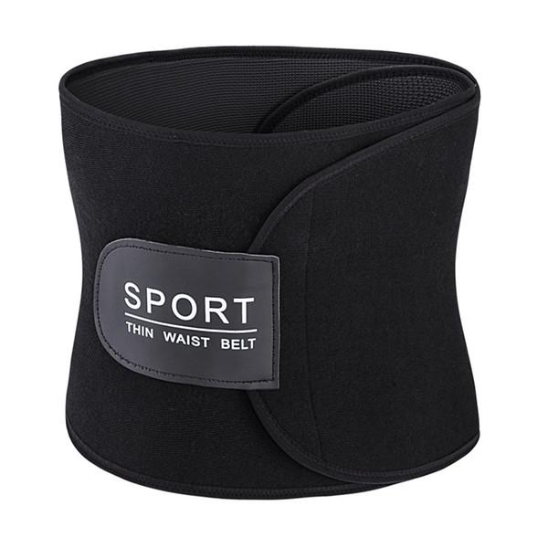 Black Unisex Tummy Shaper Fitness Waist Sweat Belt Waist Trainer Body Shaper Neoprene Sweet Sweat Waist Trimmer Belt Power Belt