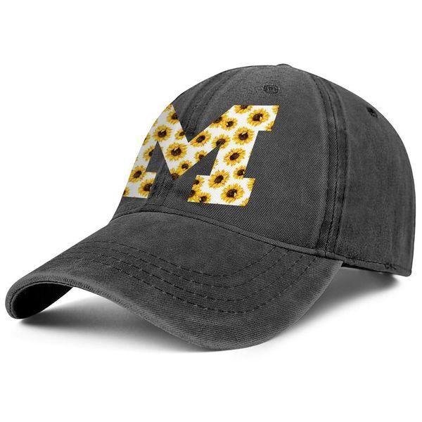 half off a697b 6e5d3 Michigan Wolverines football white sunflower logo Cowboy hat men trucker hat  casualfashion adjustable womens summer cap