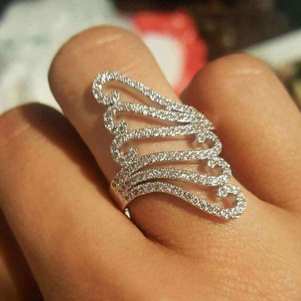 Hot Wholesale Price Silver Ring Hollow Neutral Silver Fashion Jewellery Unique Style Jewelry