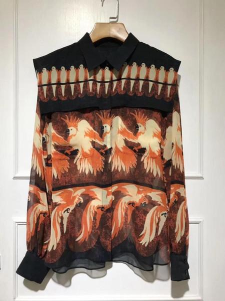 2019 новая женская мода sexy с длинными рукавами полосатый карман кружева шить рубашка 0423