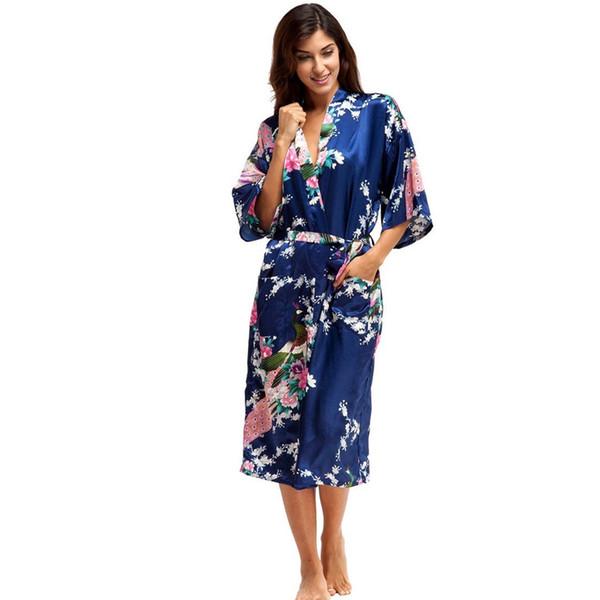 Fashion Bridal Party Robe Lingerie Floral Temptation Belt Bride Robe Underwear Nightdress Women Satin Kimono Sleepwear Spa Robes