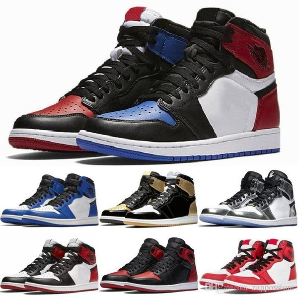 1 High Og Mens Basketball Shoes Banned Bred Toe Shadow Gold Top Best Quality Designer Shoes 1s Mens Athletics Sneakers Trainers 7-13