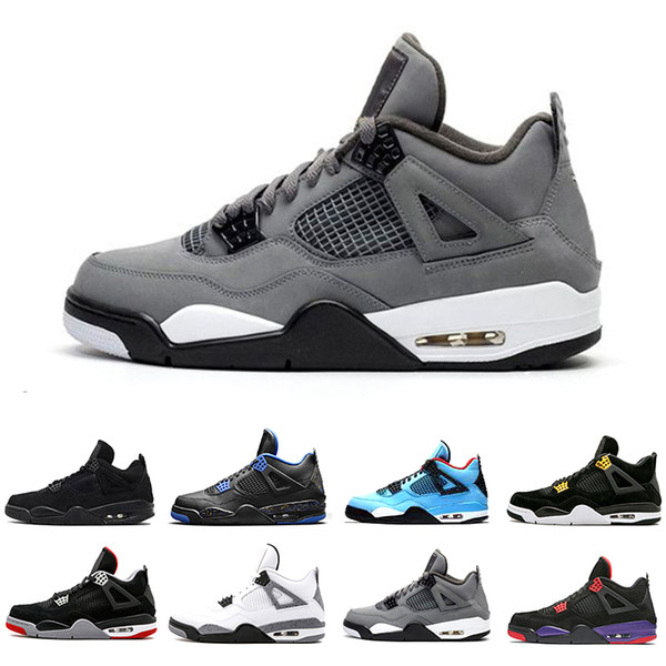 36 47 cool grey fiba bred 4s iv 4 mens basketball shoes