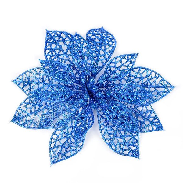 10pcs Simulation Artificial Floral Flowers Plastic Decoration For Christmas Tree Party GHS99