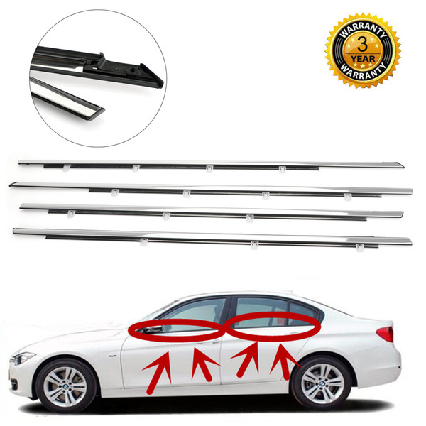best selling Areyourshop 4pcs Chrome Weatherstrip Window Moulding Trim Seal Belt For Accord 2008-2012 Window Moulding Trim Car Accessories