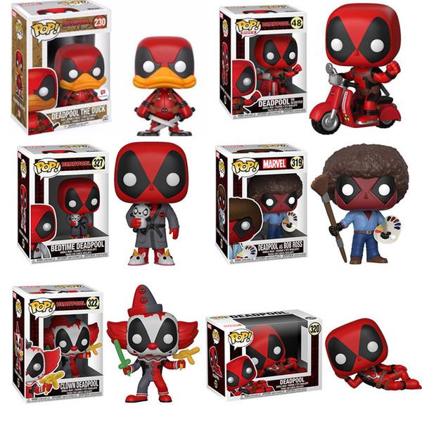 Funko POP Marvel Super Hero Deadpool Brinquedos Juguetes Figuras de Acción para el amigo cumpleaños de los niños Colección regalo para los aficionados al cine