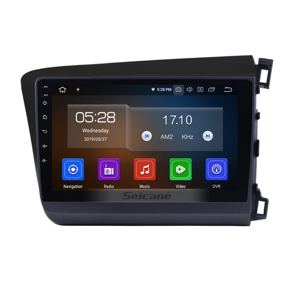 Android 9.0 HD Touchscreen 9 Inch GPS Navi Car Stereo for 2012 Honda Civic RHD with Bluetooth Wifi support OBD2 DVR car dvd Rear camera DVR