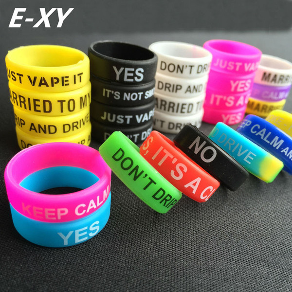 wholesale 50/100/200pcs Silicone Rubber Band Vape Ring for Mechanical Mods Decorative Protection Vape Mod Band for 22mm