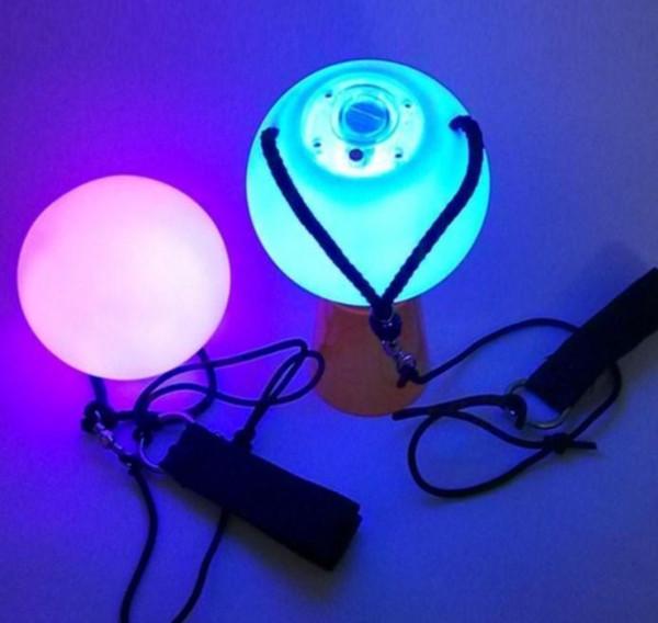 200pcs/lot POI LED Luminous Throw Balls Diameter 8cm for Belly Dance Stage Performance Talent Show Hand Props Gradient Change Color SN2693